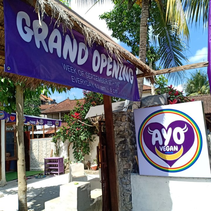 Grand Opening of Ayo Vegan Ubud just a few meters down from the Yoga Barn parking lot